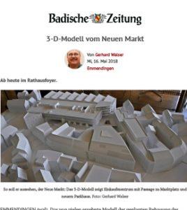 Presse Neuer Markt Emmendingen Modell Modellbau NOVUM Stuttgart